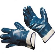 Перчатки нитриловые (синие) полное покрытие ЛЮКС (крага)