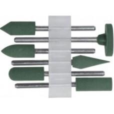 Насадки резиновые полировальные, средней зернистости, набор 6 шт.