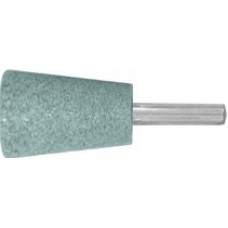Шарошка абразивная ( по камню, мрамору, кафелю), хвостовик 6 мм конус с закруглением 25x35 мм
