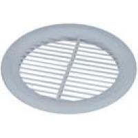 Решетка вентиляционная круглая, 160 мм, без сетки, белая