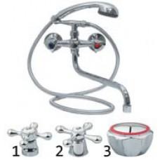 """Смеситель для ванны, 1. SERRA Aqua 1/2"""" керам."""