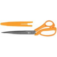 Ножницы малярные, нержавеющая сталь, пластиковые ручки, с чехлом, толщина лезвия 2,4 мм, 250 мм