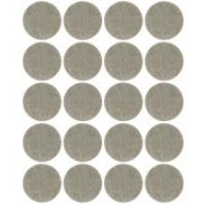 Подкладки для мебели самоклеющиеся круглые 17 мм, 20 шт, войлок