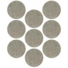 Подкладки для мебели самоклеющиеся круглые 25 мм, 9 шт, войлок