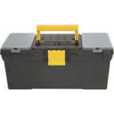"""Ящик для инструментов пластиковый 16"""" (39x20x17 см) черный"""
