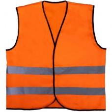 Жилет сигнальный Спрут оранжевый с карманами плотность 120 гр. От 100 шт